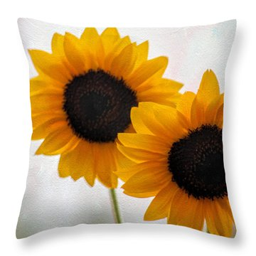 Sunny Flower On A Rainy Day Throw Pillow