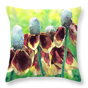 Sunny Hats Throw Pillow