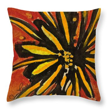 Sunny Hues Watercolor Throw Pillow by Joan Reese
