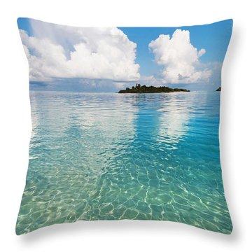 Sunny Invitation For  You. Maldives Throw Pillow by Jenny Rainbow