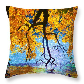 Sunny Throw Pillow by Kat Besthorn