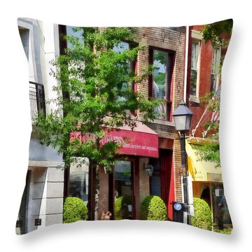 Alexandria Va - Sunny Morning Throw Pillow