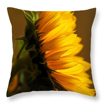Sunny Profile Throw Pillow by Bob and Nancy Kendrick