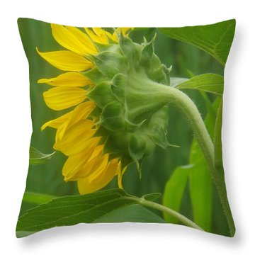 Sunny Profile Throw Pillow