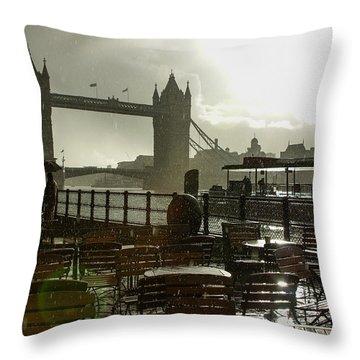 Sunny Rainstorm In London England Throw Pillow