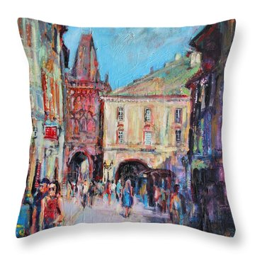 Sunny Side  Prague Throw Pillow