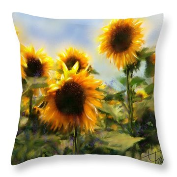 Sunny-side Up Throw Pillow by Colleen Taylor