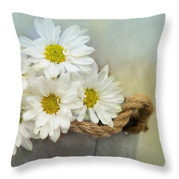 Sunny Side Up Throw Pillow by Robin-Lee Vieira