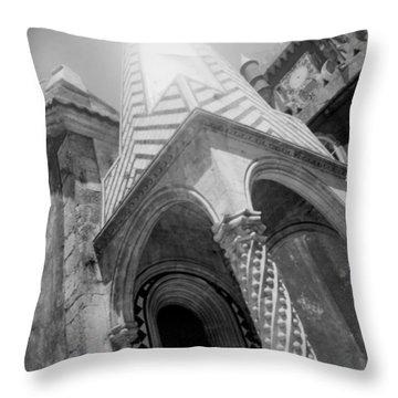 Sunny Sintra Tiles Throw Pillow by Becky Kozlen