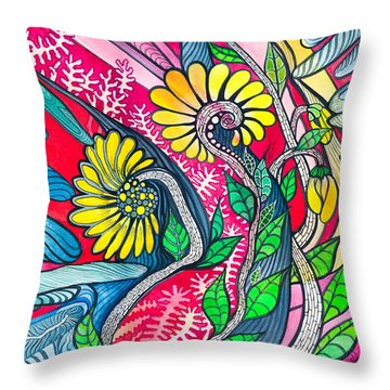 Sunny Spring Throw Pillow