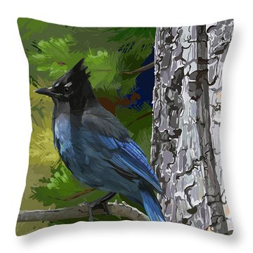 Sunny Stellers Jay Throw Pillow