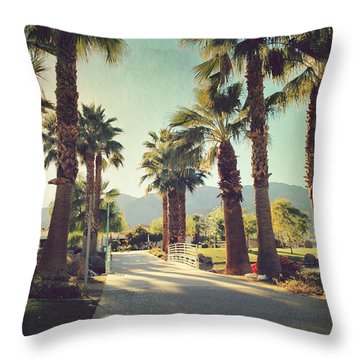 Sunny Warm Happy Throw Pillow by Laurie Search