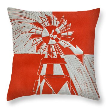 Sunny Windmill Throw Pillow