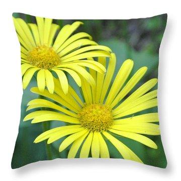 Sunny Yellow 2 Throw Pillow
