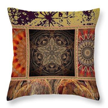 Throw Pillow featuring the digital art Sunrays by Eleni Mac Synodinos