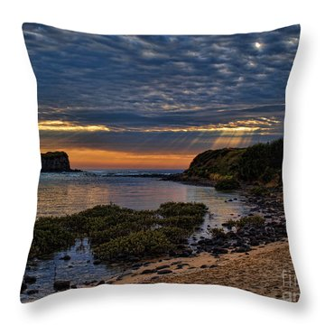 Throw Pillow featuring the photograph Sunrays by Trena Mara