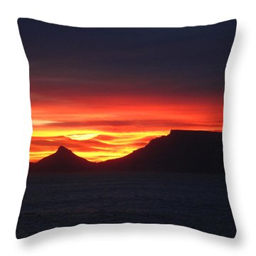 Sunrise Over Table Mountain Throw Pillow