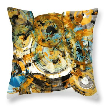 Throw Pillow featuring the painting Sunrise - 991.042212 by Kris Haas