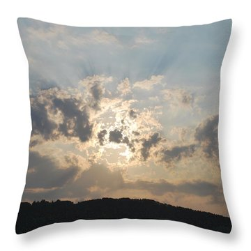 Throw Pillow featuring the photograph Sunrise 1 by George Katechis
