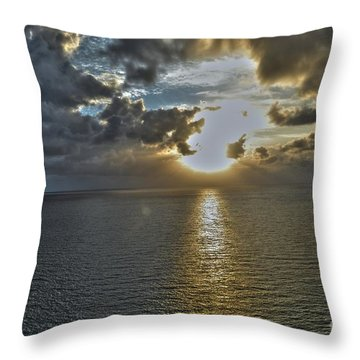 Sunrise Above Fort Lauderdale Beach Florida Throw Pillow by Timothy Lowry