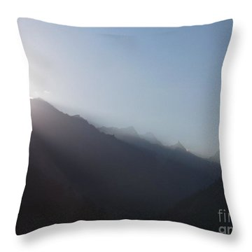 Sunrise Above Gangotri Throw Pillow