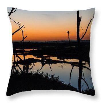 Sunrise Across The Sacred Land Throw Pillow