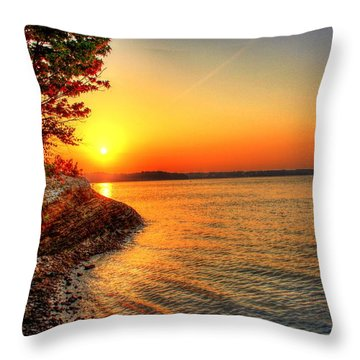 Sunrise Around The Bend Throw Pillow