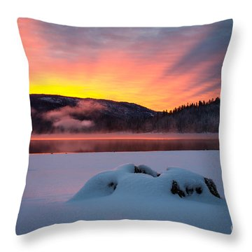 Sunrise At Bass Lake Throw Pillow