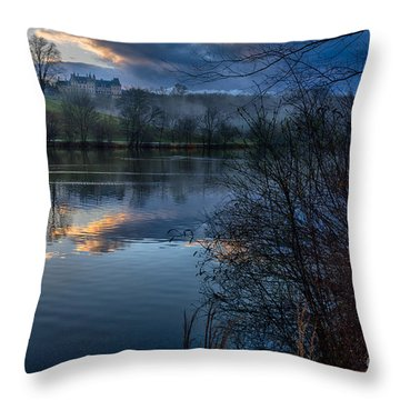 Sunrise At  Biltmore Estate Throw Pillow