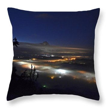 Sunrise At Buzzard's Bluff Throw Pillow