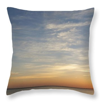 Throw Pillow featuring the photograph Sunrise At Cheyenne Bottoms by Rob Graham