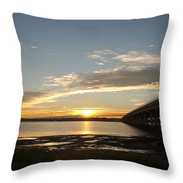 Sunrise At Corpus Christi Throw Pillow