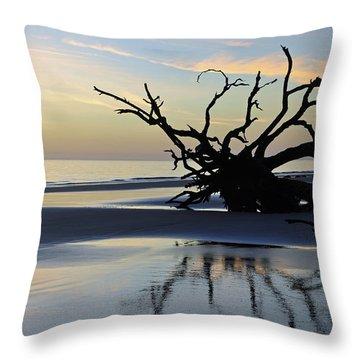 Sunrise At Driftwood Beach 6.6 Throw Pillow