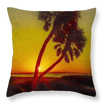 Sunrise At Fort De Soto Throw Pillow