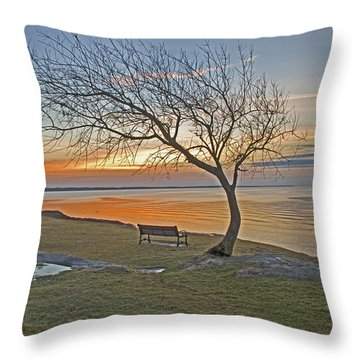 Sunrise At Fort Phoenix Throw Pillow