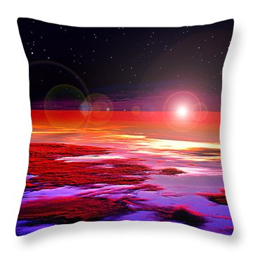 Sunrise At Fourty Thousand  Throw Pillow