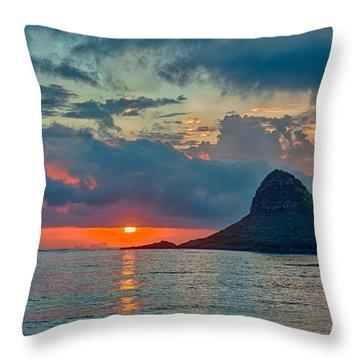 Sunrise At Kualoa Park Throw Pillow by Dan McManus
