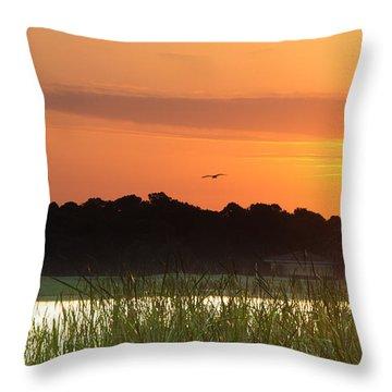 Sunrise At Lakewood Ranch Florida Throw Pillow