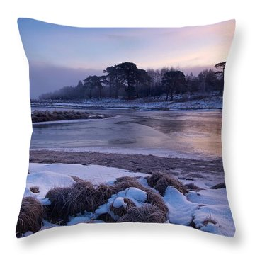 Throw Pillow featuring the photograph Sunrise At Loch Tulla by Stephen Taylor