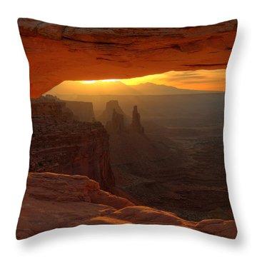 Sunrise At Mesa Arch 2 Throw Pillow
