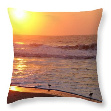 Sunrise At Ocean Isle Throw Pillow