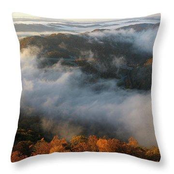 Sunrise At Pinnacle Overlook Throw Pillow