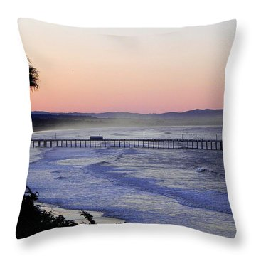 Sunrise At Pismo Beach Throw Pillow