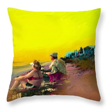 Sunrise At Ponte Vedras Throw Pillow