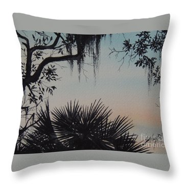 Sunrise At Shellmans Bluff Throw Pillow