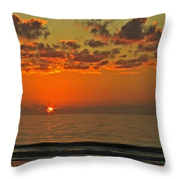 Sunrise At The Beach V Throw Pillow