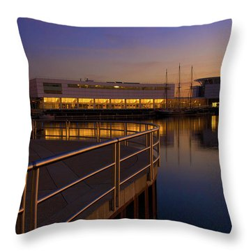 Throw Pillow featuring the photograph Sunrise At The Lakefront by Jonah  Anderson