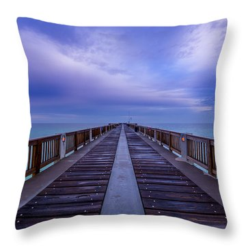 Sunrise At The Panama City Beach Pier Throw Pillow