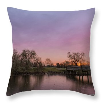 Sunrise At The Park Throw Pillow by Dwayne Schnell