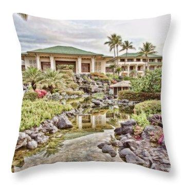 Sunrise At The Resort Throw Pillow by Scott Pellegrin
